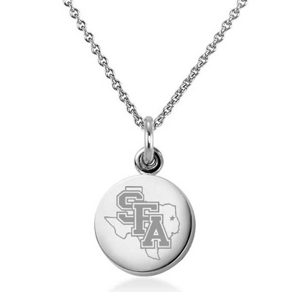 SFASU Necklace with Charm in Sterling Silver