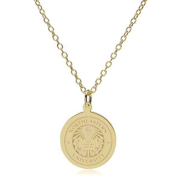 Northeastern 14K Gold Pendant & Chain