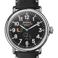 Miami Shinola Watch, The Runwell 47mm Black Dial