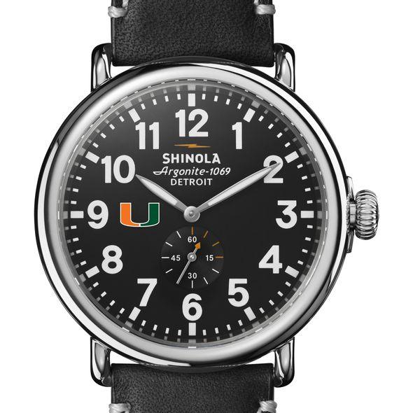 Miami Shinola Watch, The Runwell 47mm Black Dial - Image 1