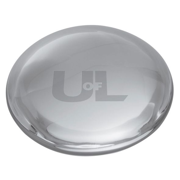University of Louisville Glass Dome Paperweight by Simon Pearce - Image 2