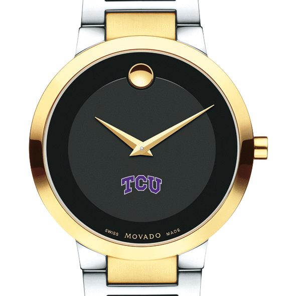 Texas Christian University Men's Movado Two-Tone Modern Classic Museum with Bracelet