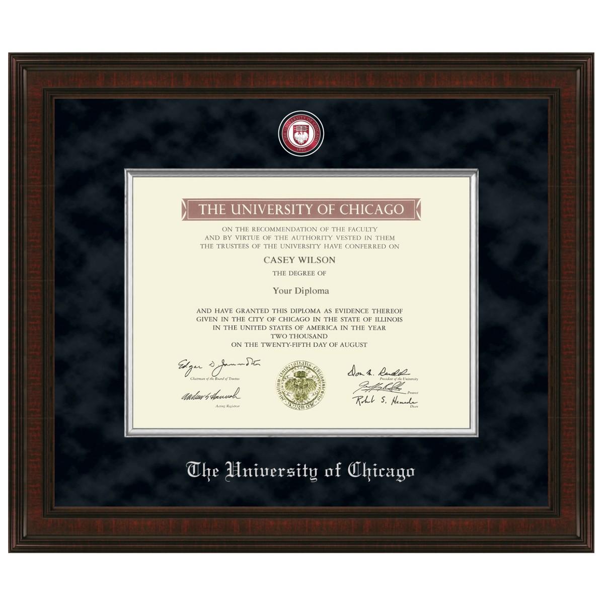 Chicago Diploma Frame Excelsior Graduation Gift