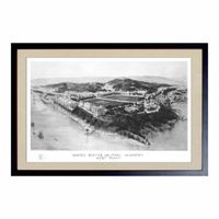 Historic US Military Academy Black and White Print