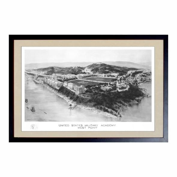 Historic US Military Academy Black and White Print - Image 1