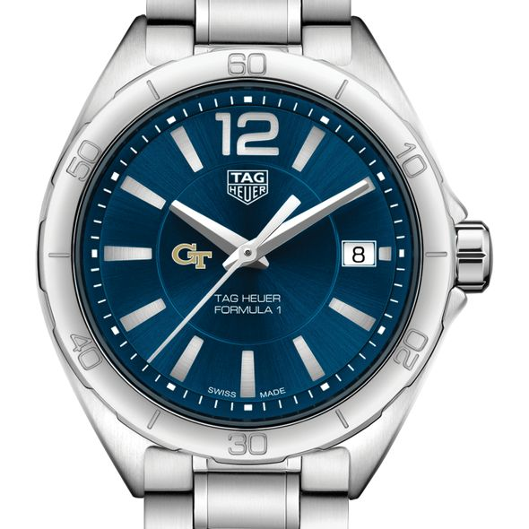 Georgia Tech Women's TAG Heuer Formula 1 with Blue Dial