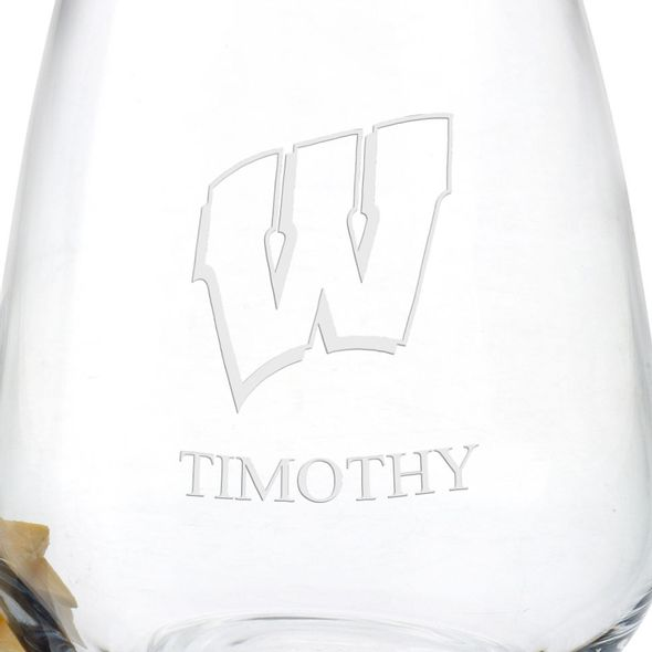 Wisconsin Stemless Wine Glasses - Set of 4 - Image 3