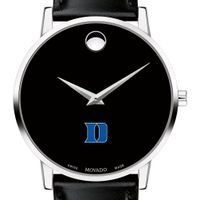 Duke University Men's Movado Museum with Leather Strap