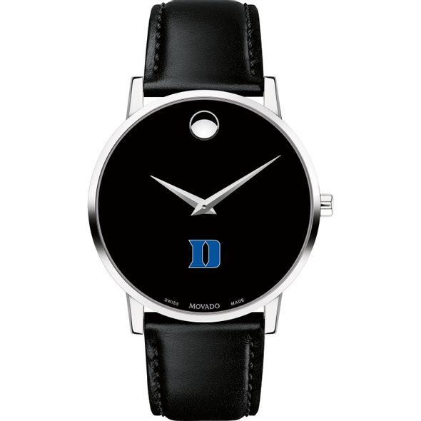 Duke University Men's Movado Museum with Leather Strap - Image 2