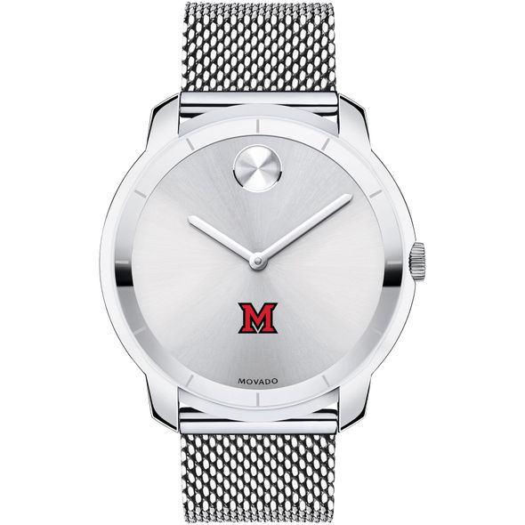 Miami University Men's Movado Stainless Bold 44 - Image 2