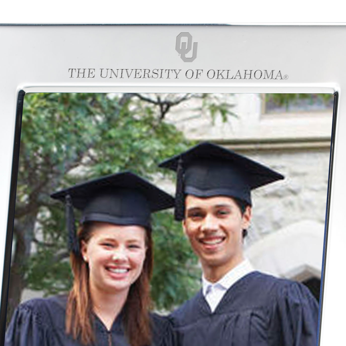 Oklahoma Polished Pewter 5x7 Picture Frame - Image 2