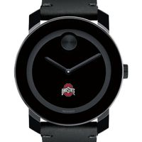Ohio State Men's Movado BOLD with Leather Strap
