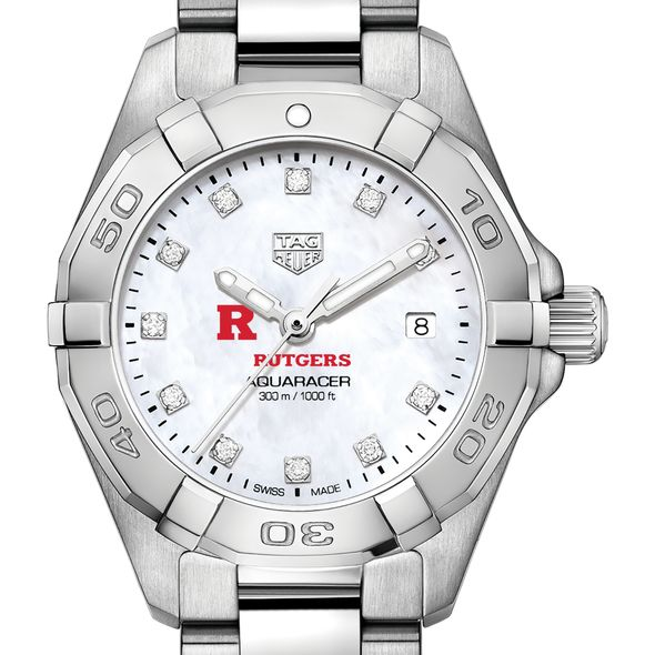 Rutgers Women's TAG Heuer Steel Aquaracer with MOP Diamond Dial