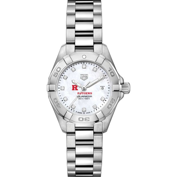 Rutgers Women's TAG Heuer Steel Aquaracer with MOP Diamond Dial - Image 2