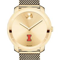 University of Illinois Women's Movado Gold Bold 36