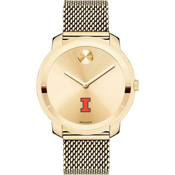 University of Illinois Women's Movado Gold Bold 36 - Image 2