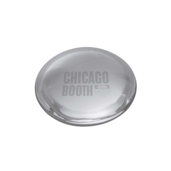Chicago Booth Glass Dome Paperweight by Simon Pearce
