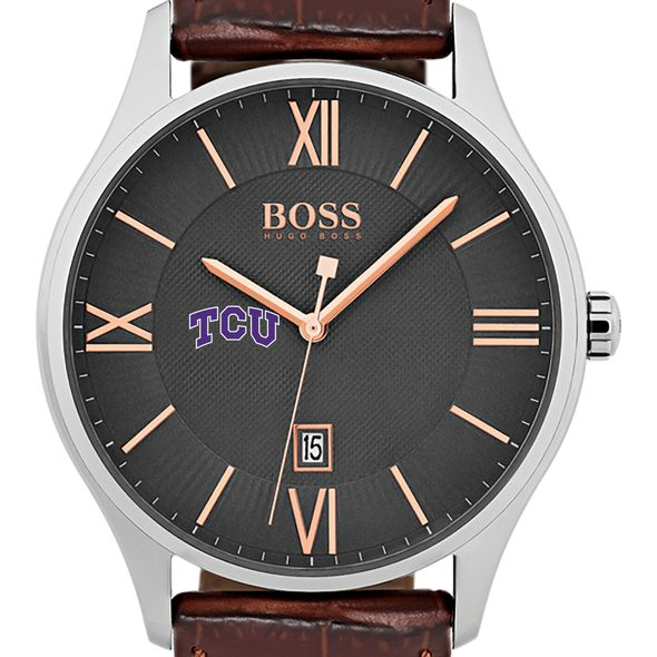 Texas Christian University Men's BOSS Classic with Leather Strap from M.LaHart
