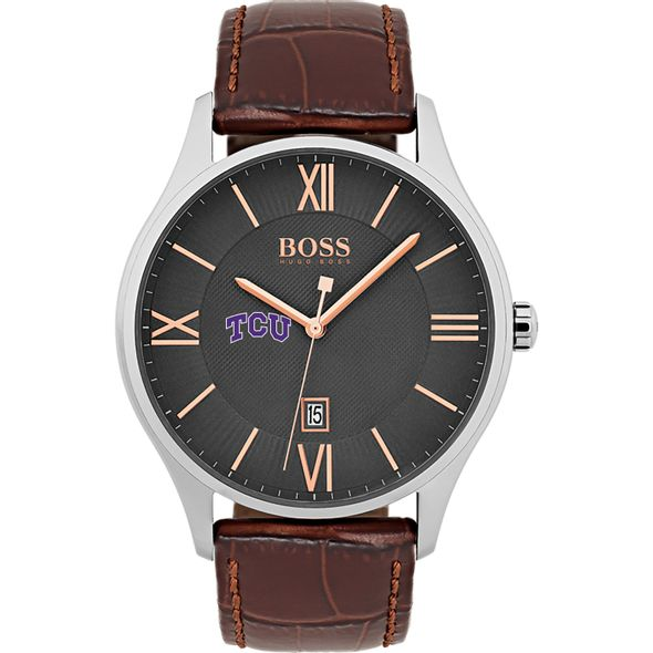 Texas Christian University Men's BOSS Classic with Leather Strap from M.LaHart - Image 2