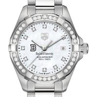 Bucknell University W's TAG Heuer Steel Aquaracer with MOP Dia Dial & Bezel