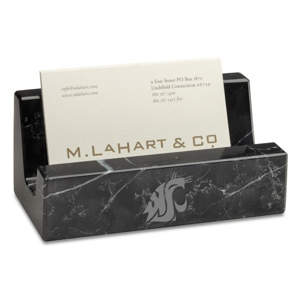 WSU Marble Business Card Holder