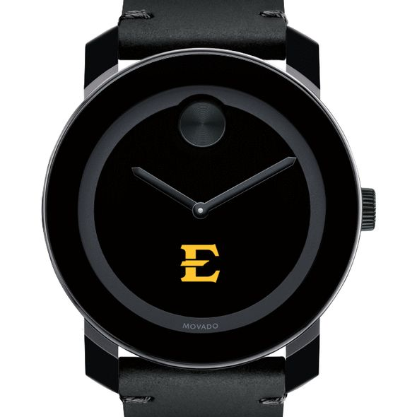 East Tennessee State University Men's Movado BOLD with Leather Strap