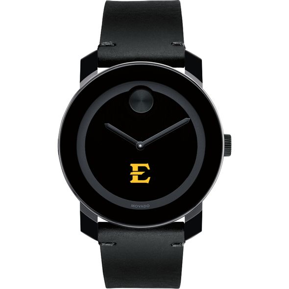 East Tennessee State University Men's Movado BOLD with Leather Strap - Image 2