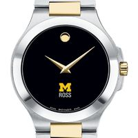 Michigan Ross Men's Movado Collection Two-Tone Watch with Black Dial