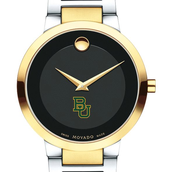 Baylor University Men's Movado Two-Tone Modern Classic Museum with Bracelet
