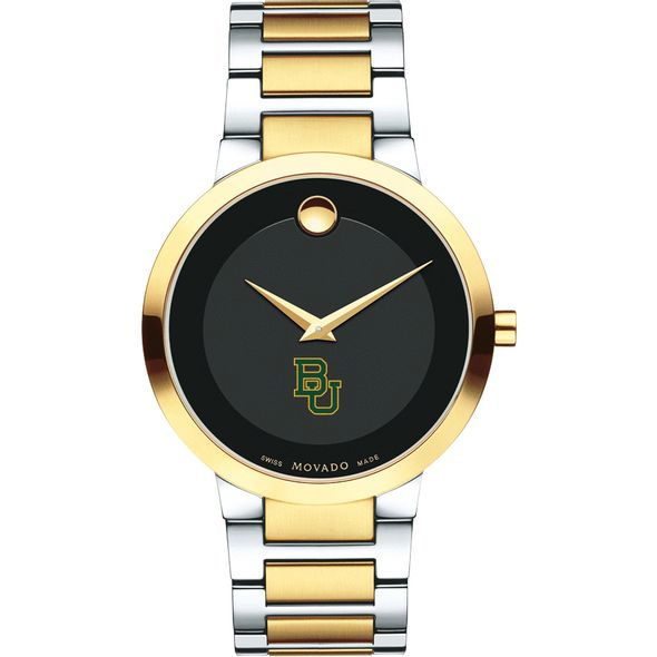 Baylor University Men's Movado Two-Tone Modern Classic Museum with Bracelet - Image 2