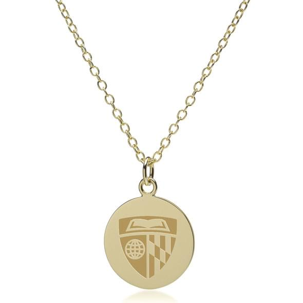 Johns Hopkins 18K Gold Pendant & Chain
