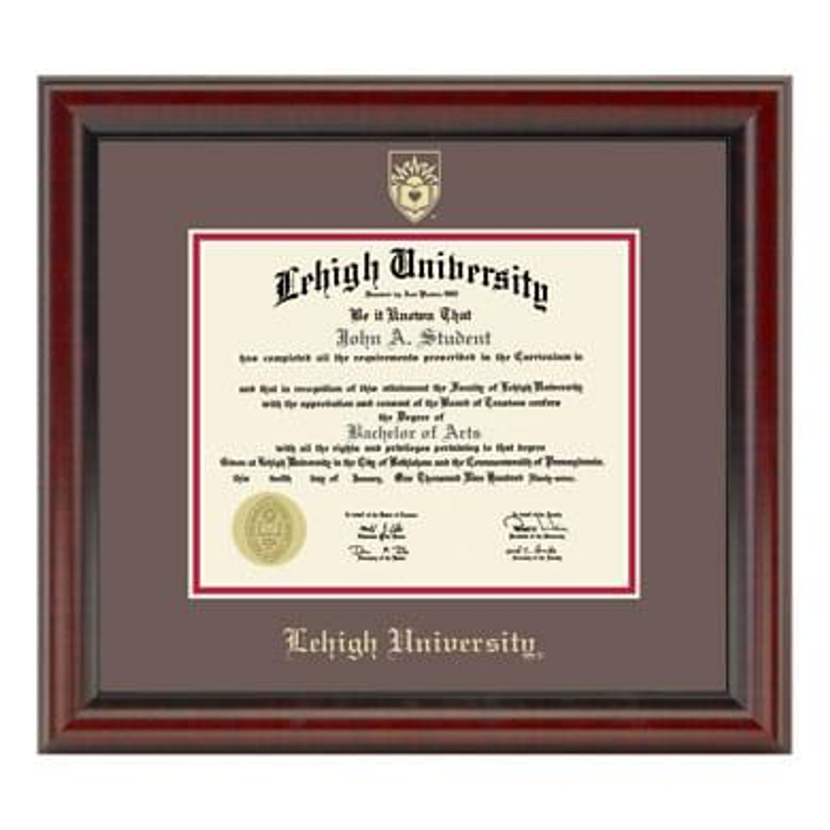 Official Lehigh University Diploma Frame The Fidelitas