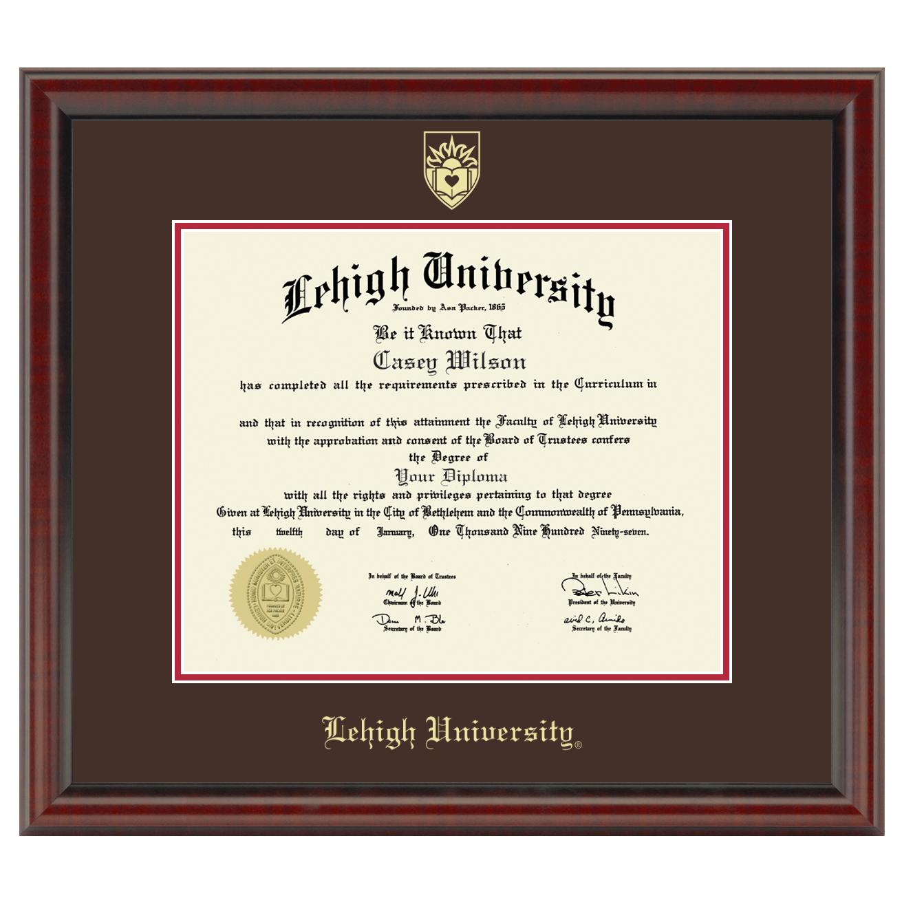 lehigh university diploma frame fidelitas graduation gift - Diploma Frames