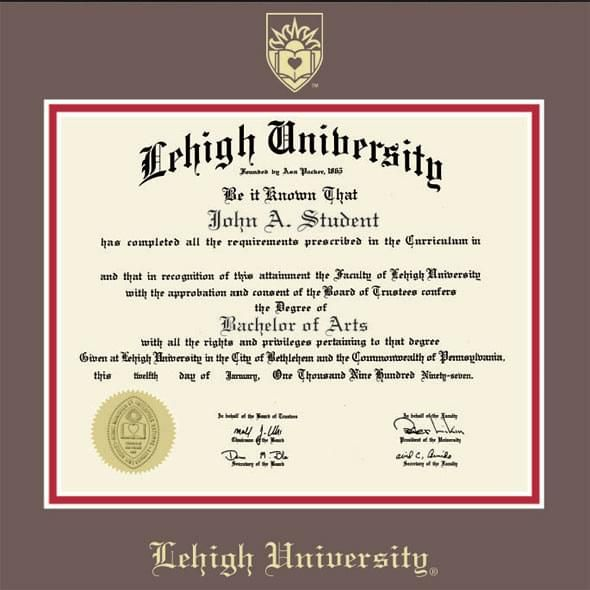 Lehigh University Diploma Frame, the Fidelitas - Image 2