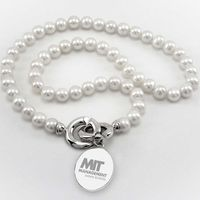 MIT Sloan Pearl Necklace with Sterling Silver Charm