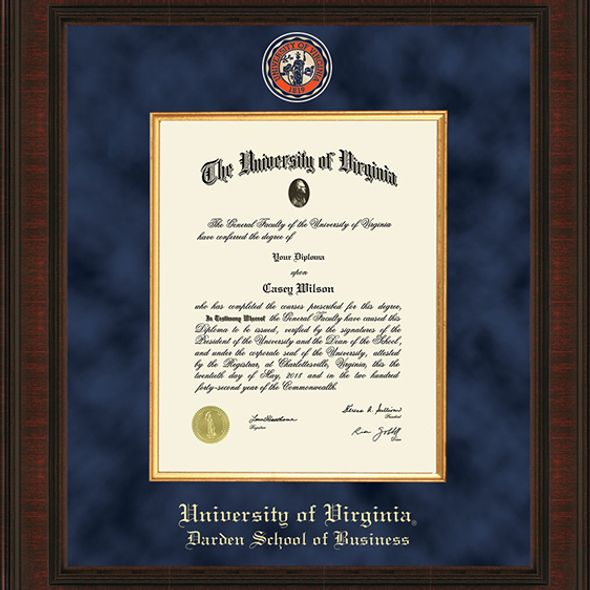UVA Darden Diploma Frame - Excelsior - Image 2