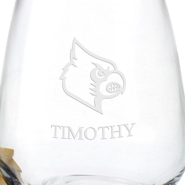 University of Louisville Stemless Wine Glasses - Set of 4 - Image 3