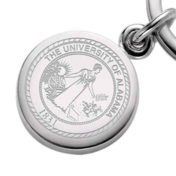 Alabama Sterling Silver Insignia Key Ring - Image 2