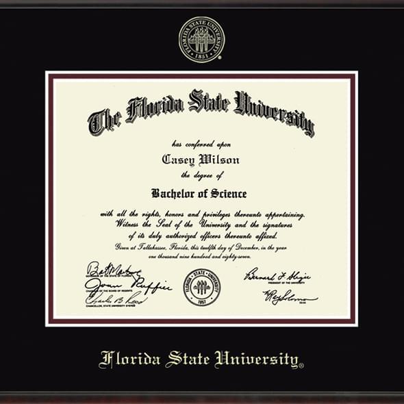Florida State University Diploma Frame, the Fidelitas - Image 2
