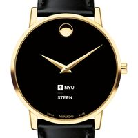 NYU Stern Men's Movado Gold Museum Classic Leather