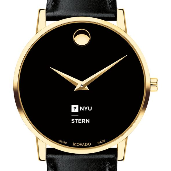 NYU Stern Men's Movado Gold Museum Classic Leather - Image 1