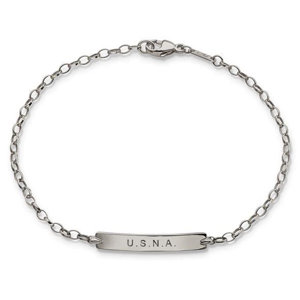Naval Academy Monica Rich Kosann Petite Poesy Bracelet in Silver