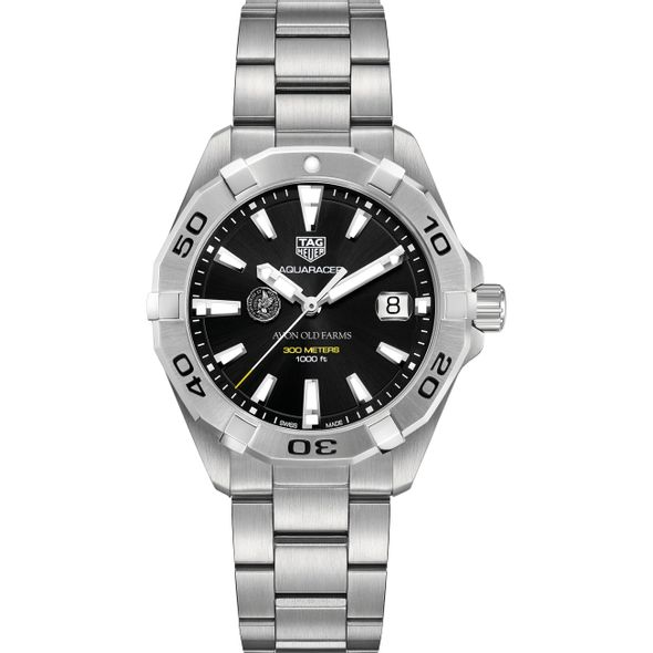 Avon Old Farms Men's TAG Heuer Steel Aquaracer with Black Dial - Image 2