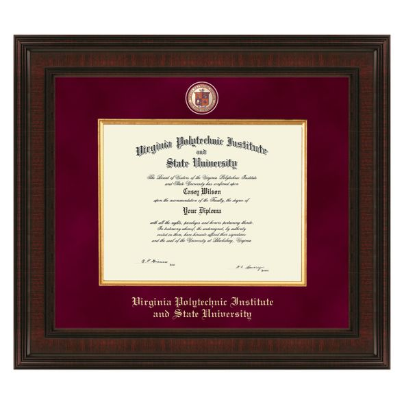 Virginia Tech Bachelor's Excelsior Diploma Frame