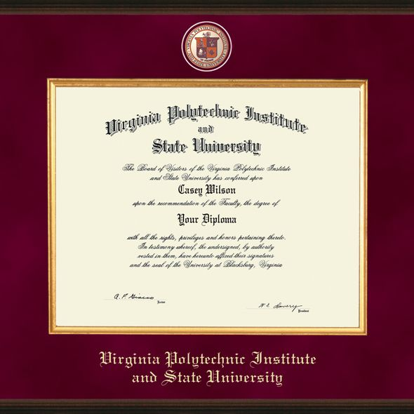 Virginia Tech Bachelor's Excelsior Diploma Frame - Image 2