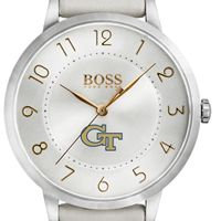 Georgia Tech Women's BOSS White Leather from M.LaHart