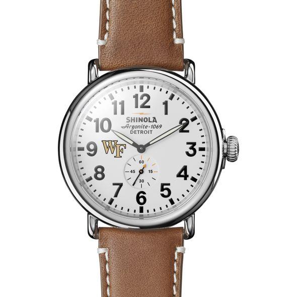 Wake Forest Shinola Watch, The Runwell 47mm White Dial - Image 2