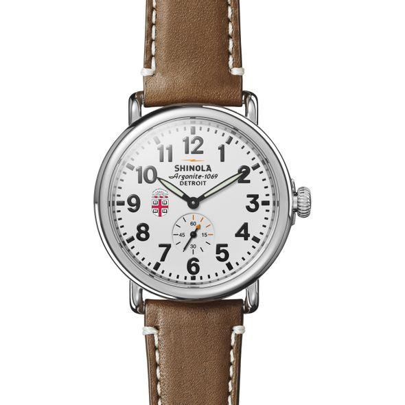 Brown Shinola Watch, The Runwell 41mm White Dial - Image 2