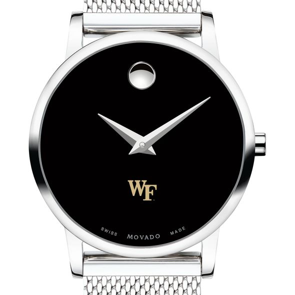 Wake Forest University Women's Movado Museum with Mesh Bracelet - Image 1