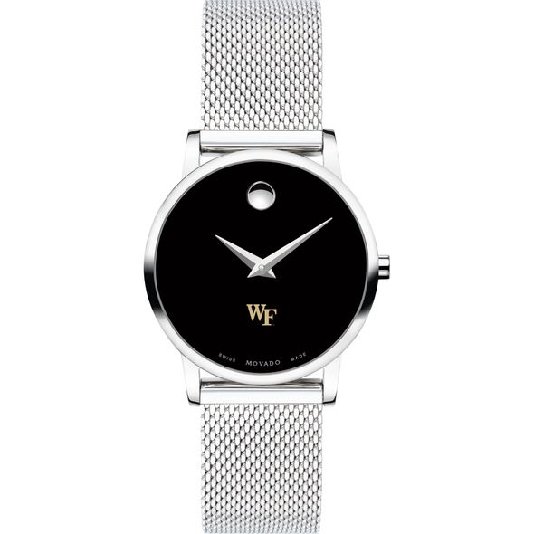 Wake Forest University Women's Movado Museum with Mesh Bracelet - Image 2